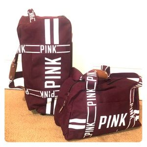 Pink by Victoria Secret luggage
